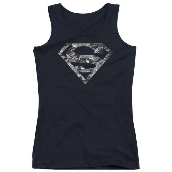 Superman Urban Camo Shield Juniors Tank Top