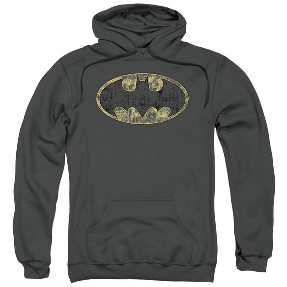 Batman Tattered Logo Adult Pull Over Hoodie