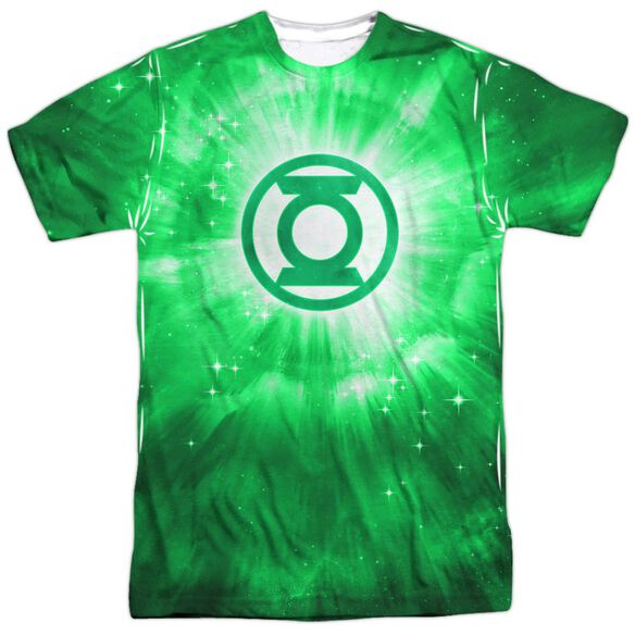 Green Lantern Green Energy Short Sleeve Adult 100% Poly Crew T-Shirt