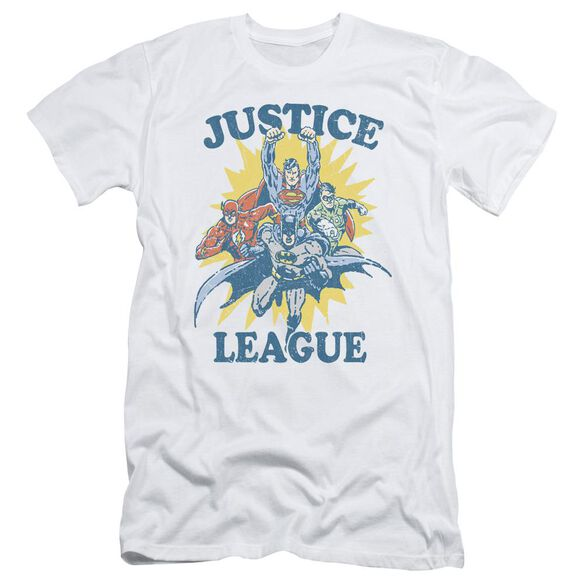 Jla Let's Do This Short Sleeve Adult T-Shirt