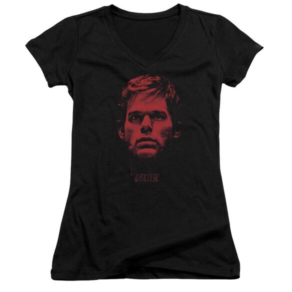Dexter Bloody Face Junior V Neck T-Shirt