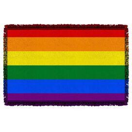 Pride Flag Woven Throw