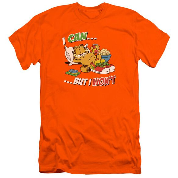 Garfield I Can... Premuim Canvas Adult Slim Fit