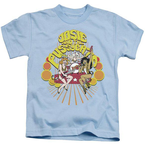 Archie Comics Groovy Rock & Roll Short Sleeve Juvenile Light Blue T-Shirt