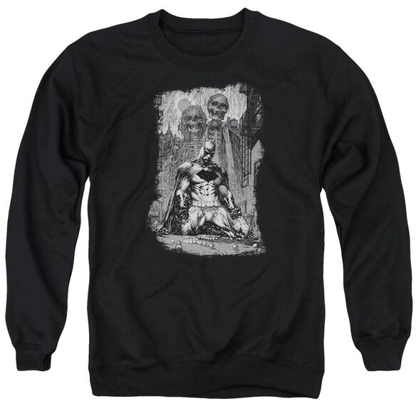 Batman Sketchy Shadows Adult Crewneck Sweatshirt