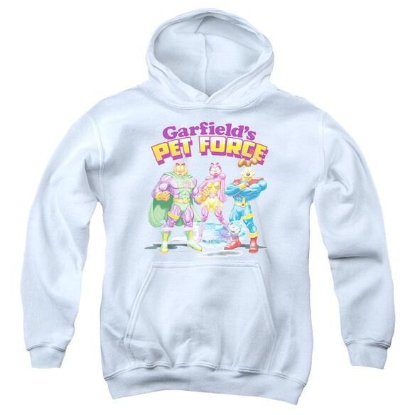 Garfield Heroes Await Youth Pull Over Hoodie