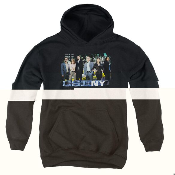 Csi Ny Cast-youth Pull-over Hoodie - Black