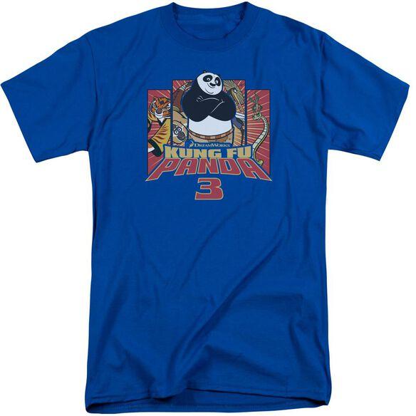 Kung Fu Panda Kung Furry Short Sleeve Adult Tall Royal T-Shirt
