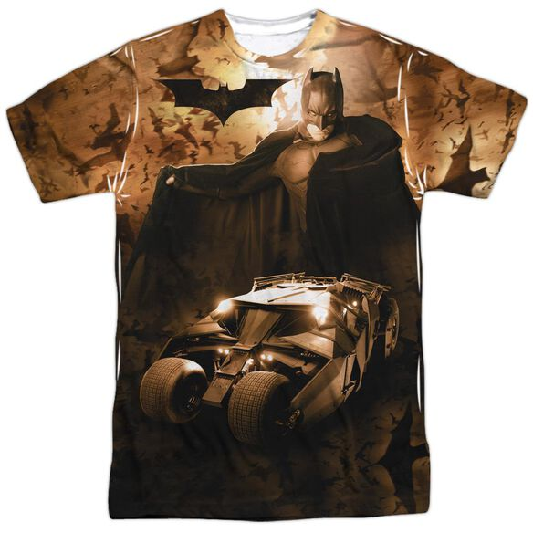 Batman Begins Batsmobile Short Sleeve Adult Poly Crew T-Shirt