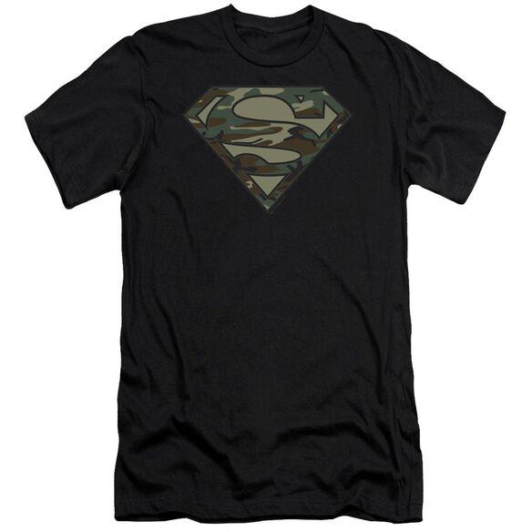 Superman Camo Logo Premuim Canvas Adult Slim Fit