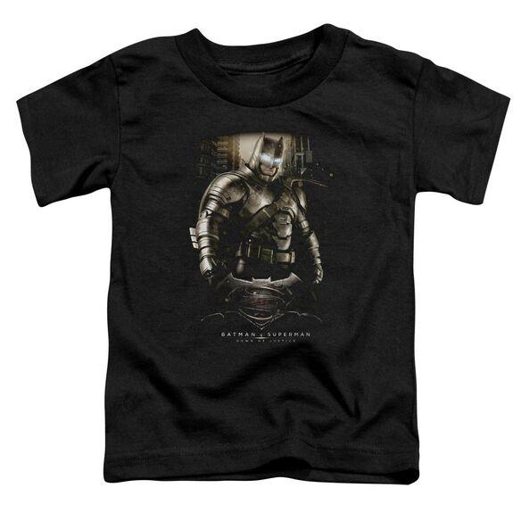 Batman V Superman Bats Ground Zero Short Sleeve Toddler Tee Black T-Shirt