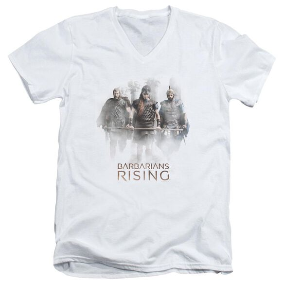 Barbarians Rising Three Barbarians Short Sleeve Adult V Neck T-Shirt