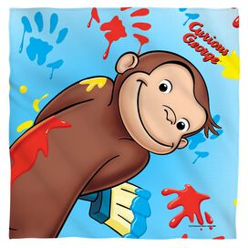 Curious George Paint Poly 22 X22 Bandana