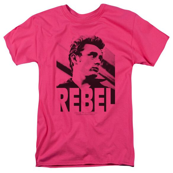 Dean Rebel Rebel Short Sleeve Adult Hot Pink T-Shirt