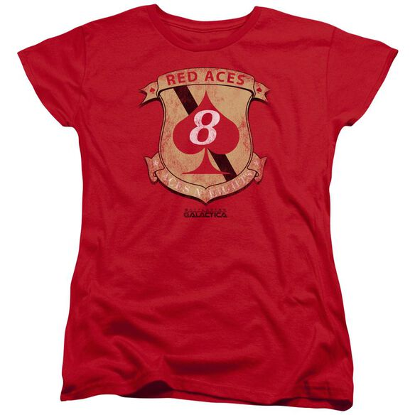 Bsg Aces Badge Short Sleeve Womens Tee T-Shirt
