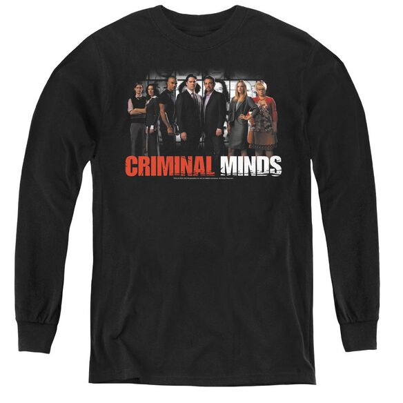 Criminal Minds The Brain Trust - Youth Long Sleeve Tee - Black
