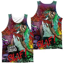 Suicide Squad Diablo Psychedelic Cartoon (Front Back Print) Adult Poly Tank Top