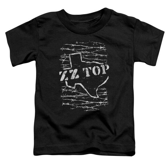 Zz Top Barbed Short Sleeve Toddler Tee Black T-Shirt