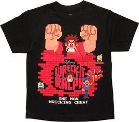 Wreck-It Ralph One Man Wrecking Crew Youth T-Shirt
