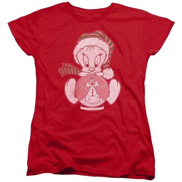 Looney Tunes Tweey Globe Short Sleeve Womens Tee T-Shirt