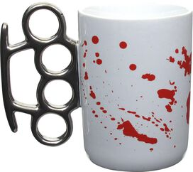 Knuckles Blood Splatter Mug