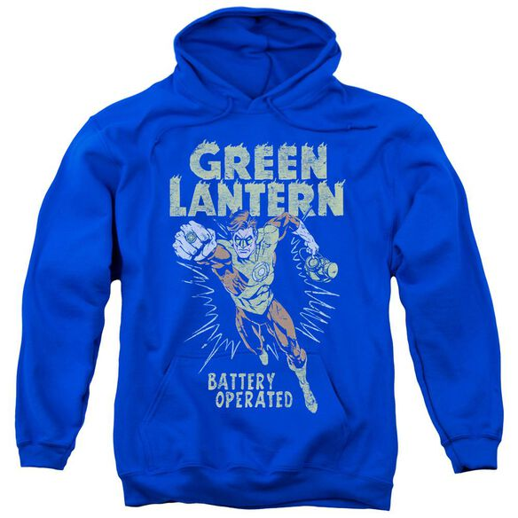 Green Lantern Fully Charged Adult Pull Over Hoodie Royal