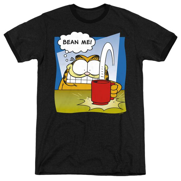 Garfield Bean Me - Adult Heather Ringer - Black