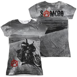Sons Of Anarchy Open Road (Front Back Print) Short Sleeve Junior Poly Crew T-Shirt