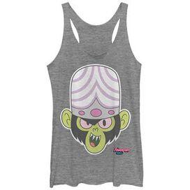 Powerpuff Girls Mojo Head Tank Top Juniors T-Shirt