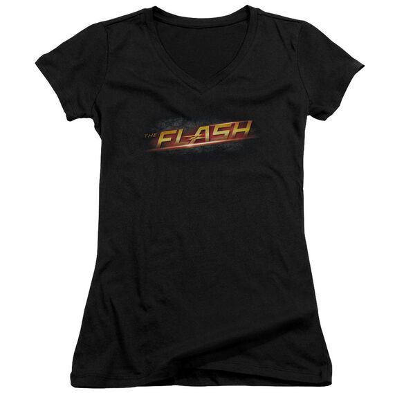 The Flash Logo Junior V Neck T-Shirt