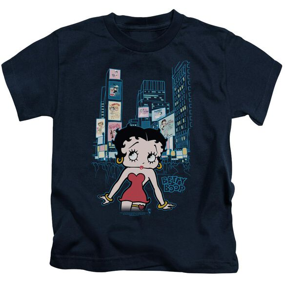 Betty Boop Square Short Sleeve Juvenile Navy Md T-Shirt