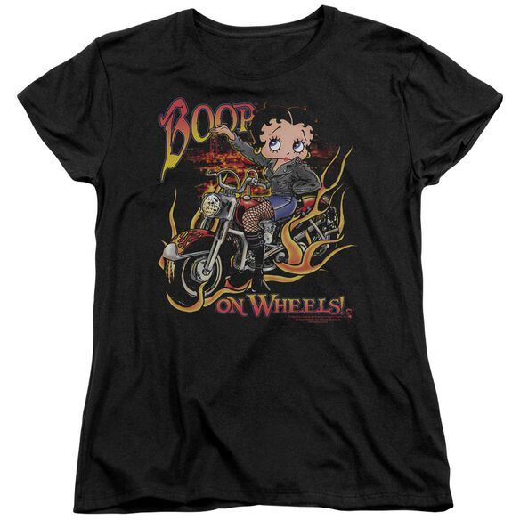 Betty Boop On Wheels Short Sleeve Womens Tee T-Shirt