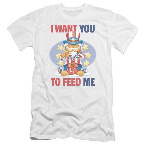 Garfield I Want You Premuim Canvas Adult Slim Fit