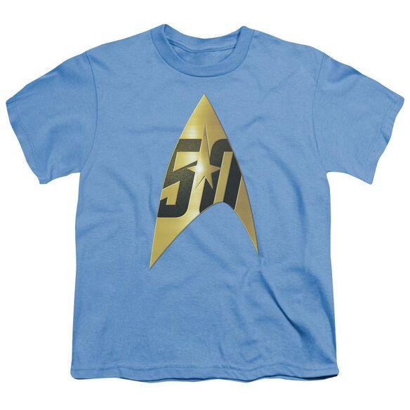 Star Trek 50 Th Anniversary Delta Short Sleeve Youth Carolina T-Shirt