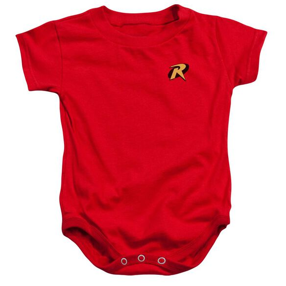 Batman Robin Logo Infant Snapsuit Red Lg