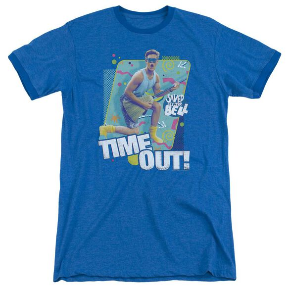 Saved By The Bell Time Out Adult Heather Ringer Royal Blue