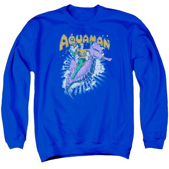 Dc Ride Free Adult Crewneck Sweatshirt Royal