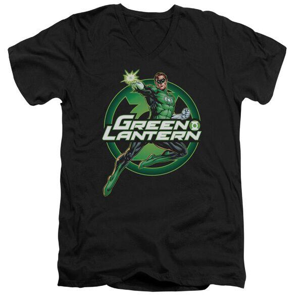 Jla Lantern Glow Short Sleeve Adult V Neck T-Shirt