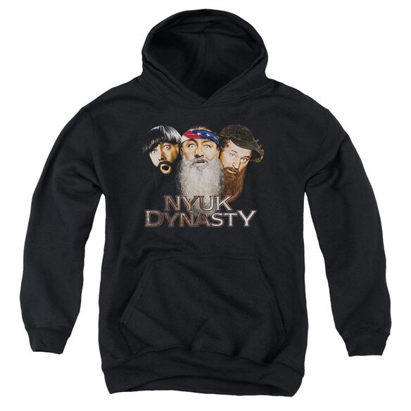 Three Stooges Nyuk Dynasty 2 Youth Pull Over Hoodie