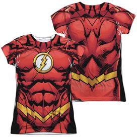 Jla Flash 52 (Front Back Print) Short Sleeve Junior Poly Crew T-Shirt