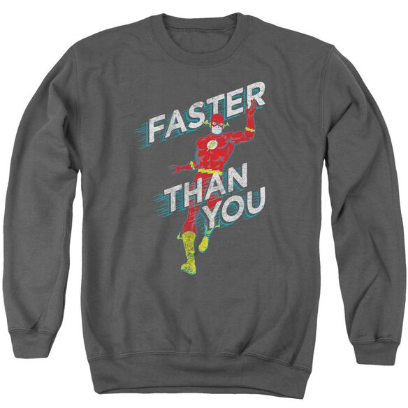 Dc Faster Than You Adult Crewneck Sweatshirt