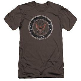Navy Rough Emblem Premuim Canvas Adult Slim Fit