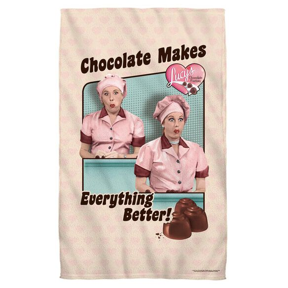 I Love Lucy Friends And Chocolate Towel