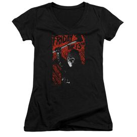 Friday The 13 Th Jason Lives Junior V Neck T-Shirt
