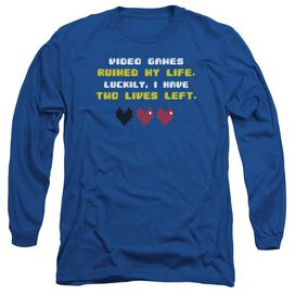 Two Lives Left Long Sleeve Adult Royal T-Shirt