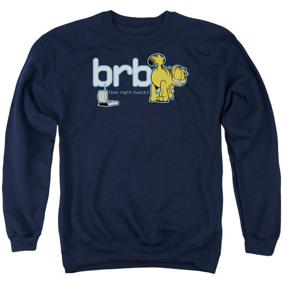 Garfield Be Right Back Adult Crewneck Sweatshirt