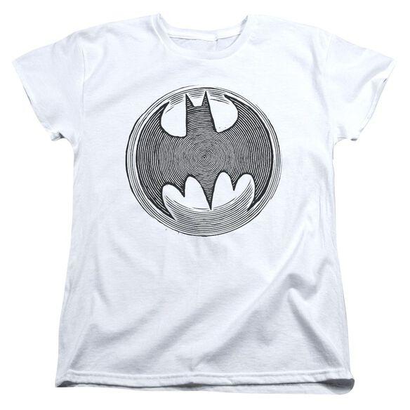Batman Knight Knockout Short Sleeve Womens Tee T-Shirt