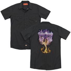 Deep Purple Phoenix Rising (Back Print) Adult Work Shirt