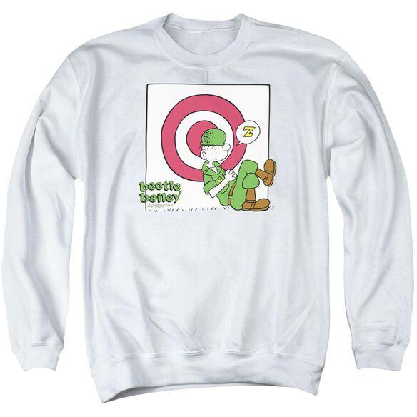 Beetle Bailey Target Nap Adult Crewneck Sweatshirt