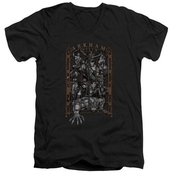 Batman Arkham's Gate Short Sleeve Adult V Neck T-Shirt